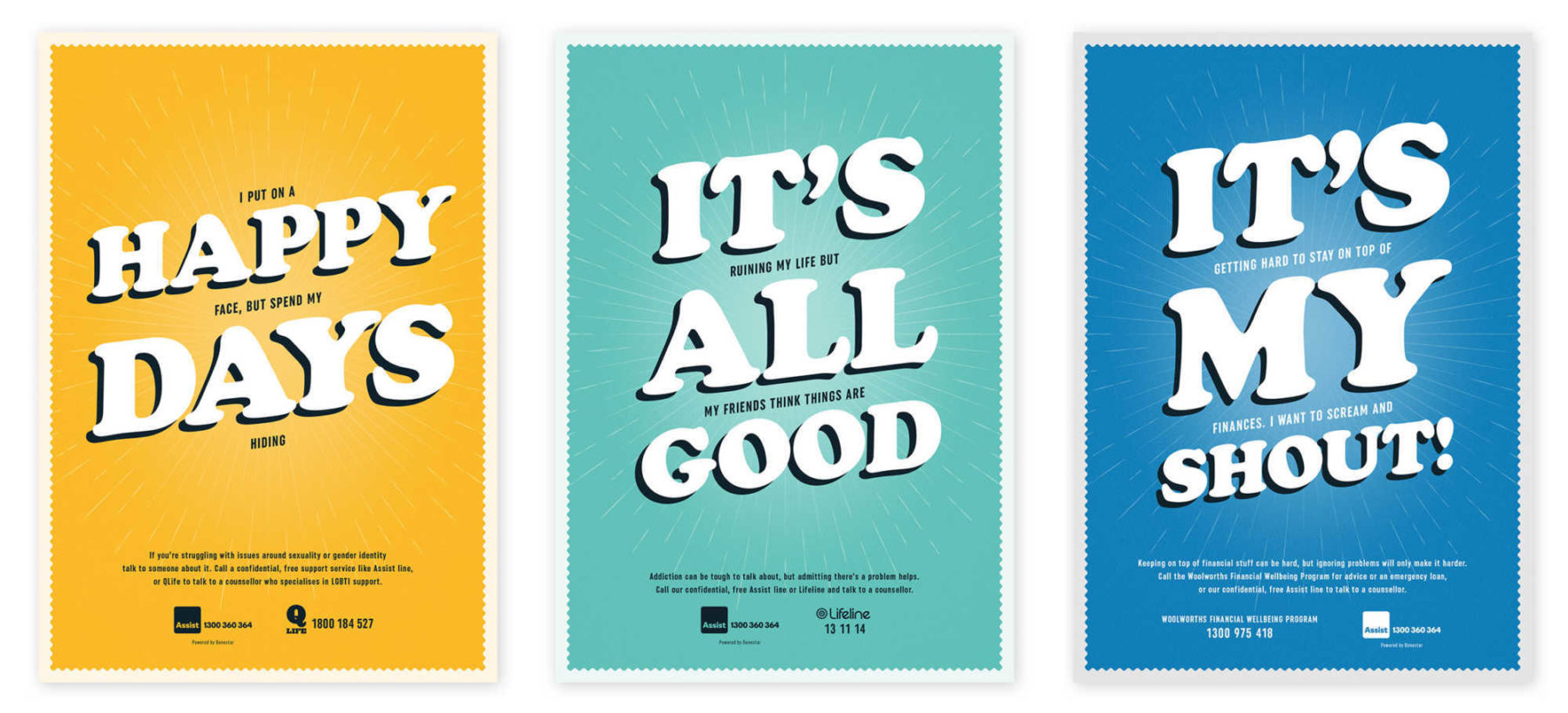 Woolworths Between the Lines Posters