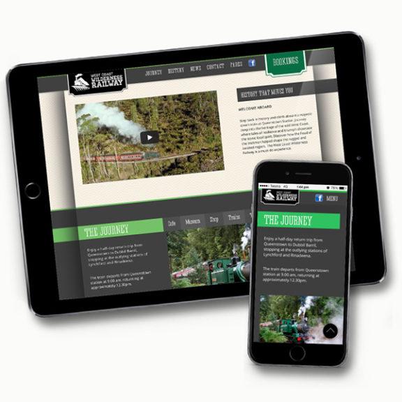 West Coast Wilderness Railway website screenshots