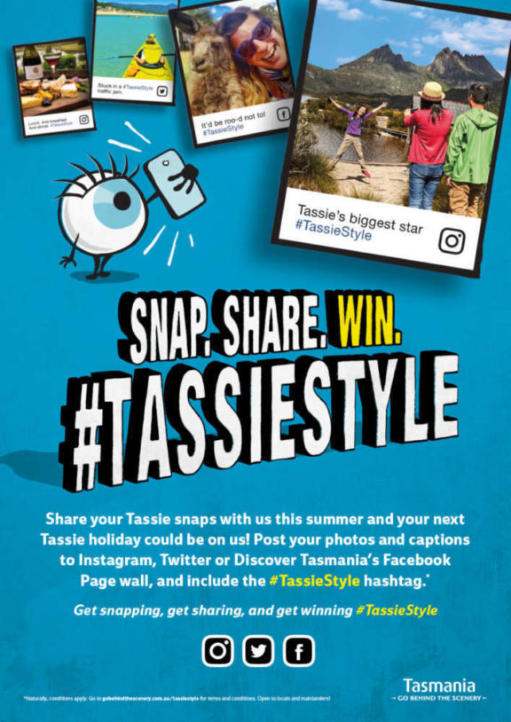 TassieStyle promotional poster