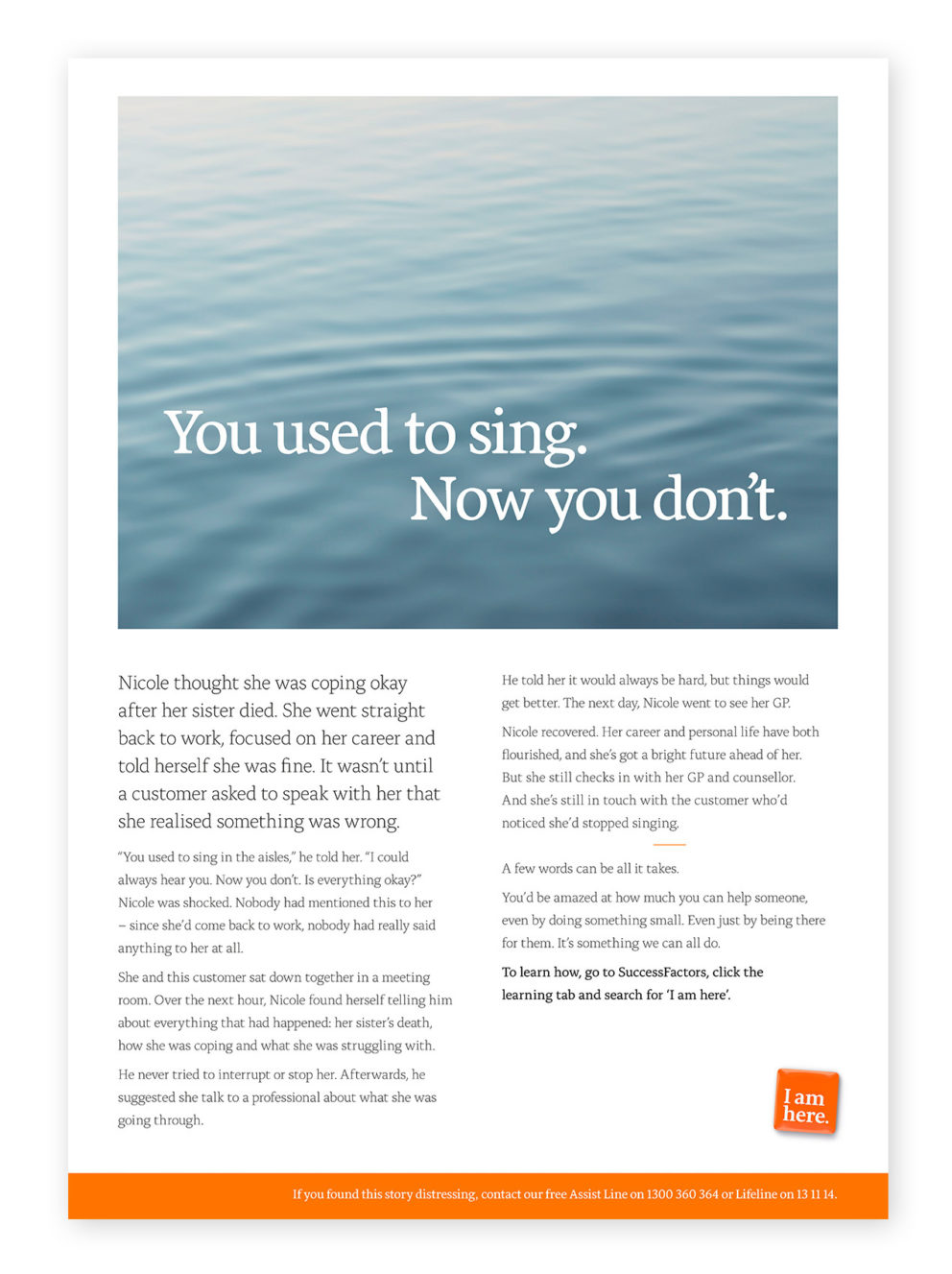 Woolworths Group - I am here Info Poster