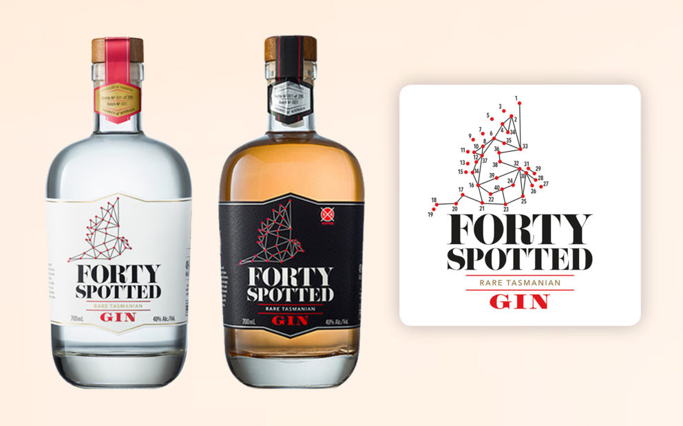 Forty Spotted Bottles and Coaster