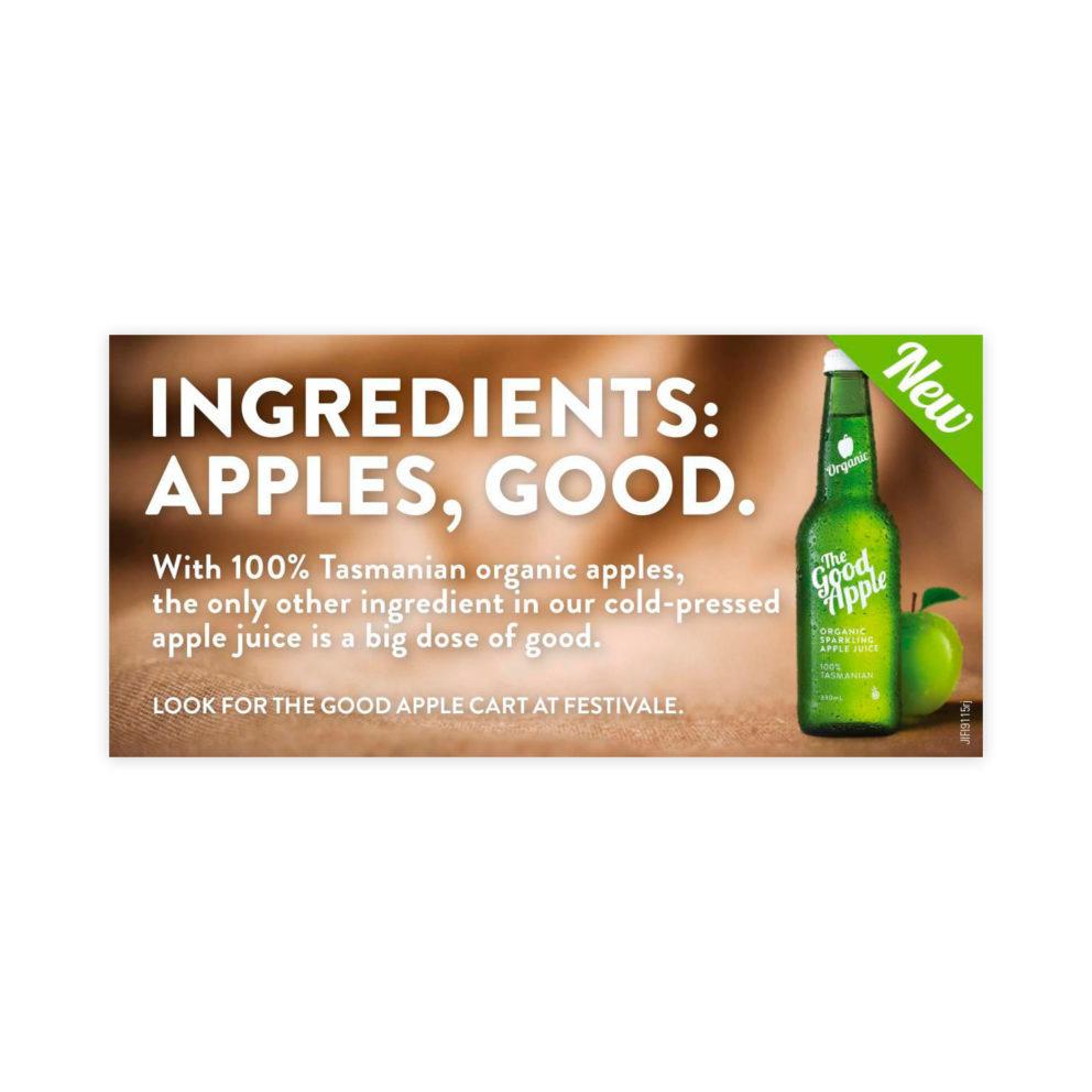 The Good Apple Ingredients Advert