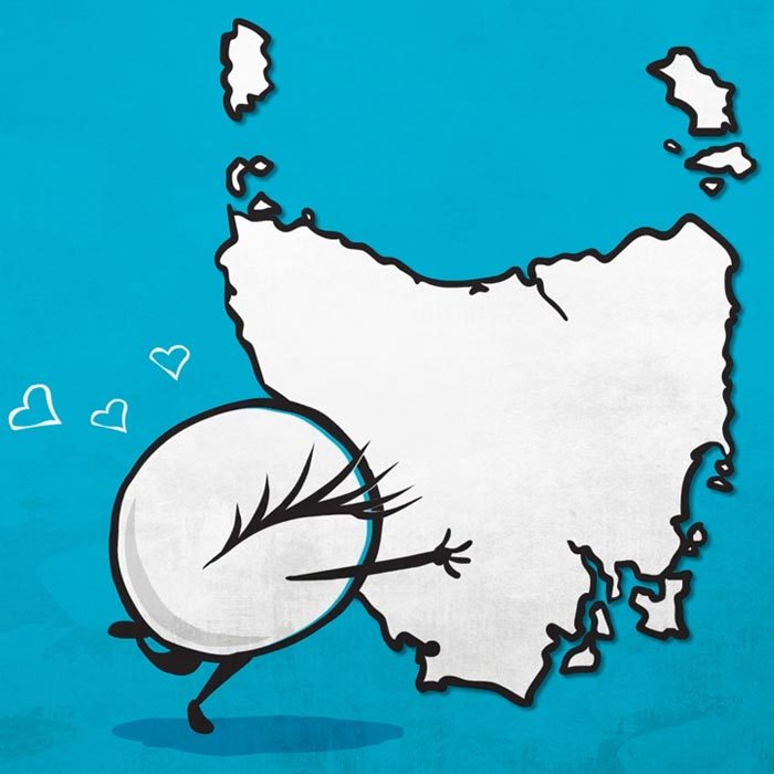 TassieStyle mascot Iris loves Tasmania
